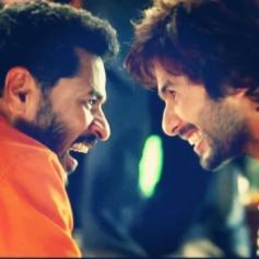 Prabhu Deva and Shahid Kapoor still from film R... Rajkumar - Gandi Baat song