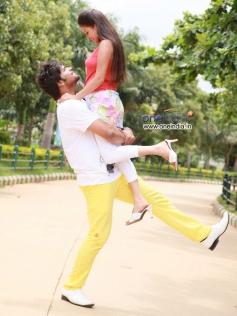 Pradeep and Kanika Tiwari in Film Rangan Style