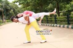 Pradeep and Kanika Tiwari in Kannada Film Rangan Style