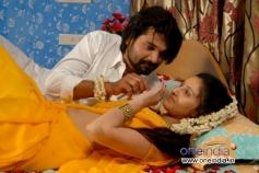 Prashanth Aigal and Namratha Sharma in Kannada Movie Vishesha