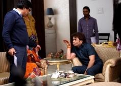 Rajpal Yadav on the sets of film Dirty Politics