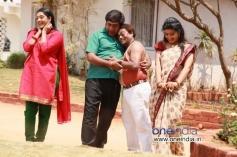 Rangayana Raghu and Sadhu Kokila in Kannada Movie Chaddi Dosth