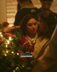 Rani Mukerji and Pamela Chopra during the Aditya Chopra Diwali Bash 2013