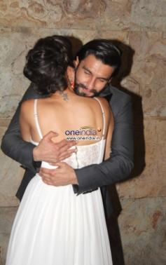 Deepika Gets Warn Hug from Ranveer Singh at Special screening of film Ram Leela