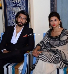 Ranveer Singh and Deepika Padukone at Jaipur