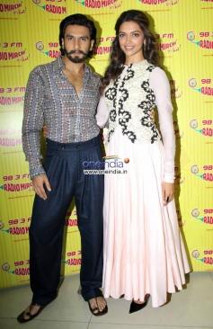 Ranveer Singh and Deepika Padukone at Radio Mirchi 98.3 FM station