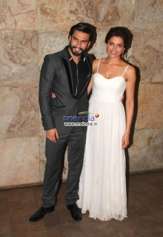 Ranveer Singh and Deepika Padukone at Special screening of film Ram Leela