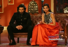 Ranveer Singh and Deepika Padukone during the promotion of Ram Leela film
