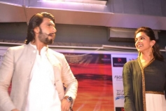 Ranveer Singh and Deepika Padukone promotes Ram Leela film at Delhi