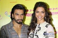 Ranveer Singh and Deepika Padukone promotes Ram Leela film at Radio City
