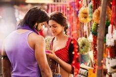 Ranveer Singh and Deepika Padukone romantic still from Ram Leela