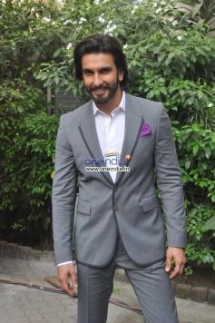 Ranveer Singh during the film Ram Leela promotion at Mehboob Studio