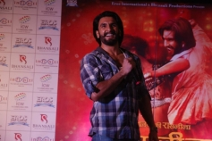 Ranveer Singh during the Ram Leela promotions at Infiniti Mall 2 in Malad