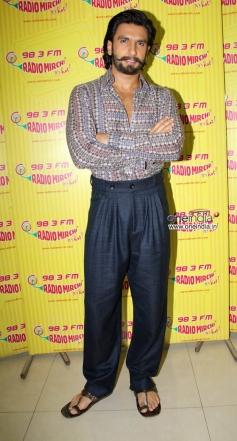 Ranveer Singh promotes Ram Leela film at Radio City