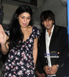 Ranveer Singh at the Finding Fanny Fernandez completion party