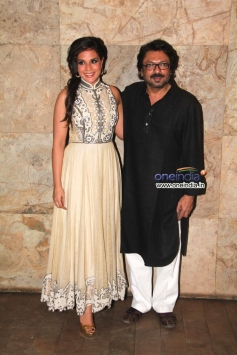 Richa Chadda with Sanjay Leela Bhansali at Special screening of film Ram Leela