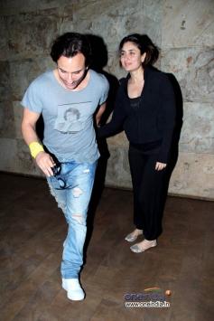 Saif Ali Khan & Kareena Kapoor at Gori Tere Pyaar Mein Special Screening