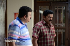 Saikumar and Mukesh in Malayalam Movie Mannar Mathai Speaking 2