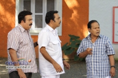 Saikumar, Shammi Thilakan, Innocent in Malayalam Movie Mannar Mathai Speaking 2