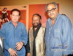 Salim Khan and Boney Kapoor at Sholay 3D film trailer launch