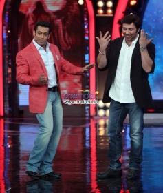 Salman Khan and Sunny Deol on the sets of Big Boss