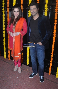 Samir Soni and Neelam at Ekta Kapoor's Diwali Bash 2013