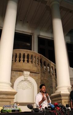 Shahrukh Khan at a press meet held at his residence Mannat