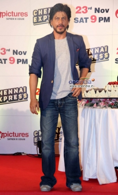 Shahrukh Khan poses at Zee TV's success party for film Chennai Express