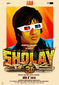 Sholay 3D film poster