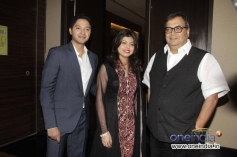 Shreyas Talpade with his wife Deepti and Subhash Ghai