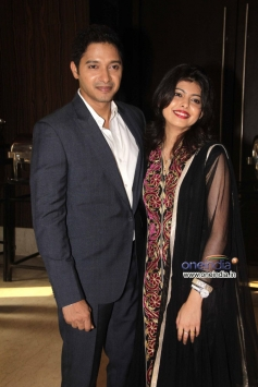 Shreyas Talpade with his wife Deepti Talpade during the launch of his second home production