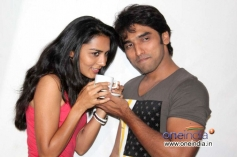 Sindhu Lokanath and Anees Tejeswar at Coffee with my Wife Film Press Meet