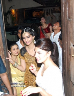 Sonam Kapoor during the Anil Kapoor's Diwali Bash 2013