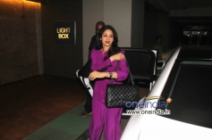 Sridevi Kapoor arrive at Special screening of film Ram Leela