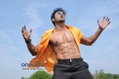Sudheer Babu six pack images from Aadu Magaadra Bujji moive
