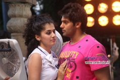 Tapasee Pannu and Arya in Telugu Movie Aata Arambham