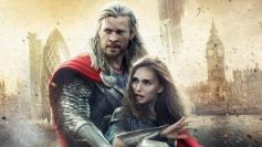 Chris Hemsworth and Natalie Portman still from film Thor The Dark World
