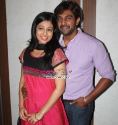 Vaishali Deepak and Chiranjeevi Sarja at Ayya 2 Film Press Meet