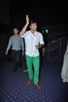 Vivek Oberoi arrive at the special screening of Krrish 3 for kids