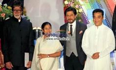 West Bengal Chief Minister Mamata Banerjee, actors Amitabh Bachchan, Kamal Hasan and Shahrukh Khan
