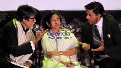West Bengal Chief Minister Mamata Banerjee, Amitabh Bachchan and Shahrukh Khan