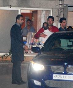 Zaheer Khan & Yuvraj Singh at Sohail Khan Diwali Bash 2013