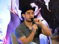 Aamir Khan addressing media during the Dhoom 3 film promotion at Chennai