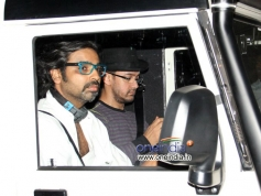 Aamir Khan arrives during the special screening of Dhoom 3 for Raj Thackeray