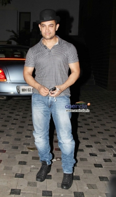 Aamir Khan during the Mansoor Khan anniversary celebrations