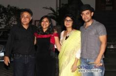 Aamir Khan and Kiran Rao during the Mansoor Khan anniversary celebrations