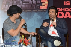 Aamir Khan and Uday Chopra during the Dhoom 3 film promotion at Hyderabad