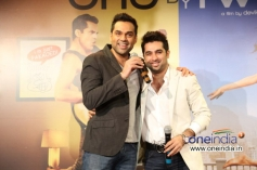 Abhay Deol having fun at the trailer launch of film One By Two