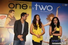 Abhay Deol, Preeti Desai and Devika Bhagat at the trailer launch of film One By Two
