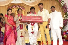 Arun Vijay at Black Pandi Wedding Reception Photos